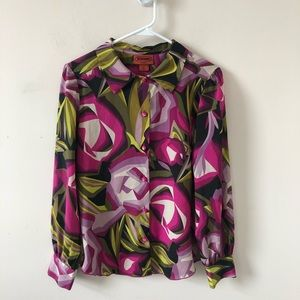 MIssoni for Target Floral Blouse- Size M